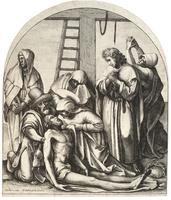 Descent from the cross, after Holbein
