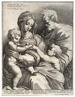 The holy family, after Pierino del Vago