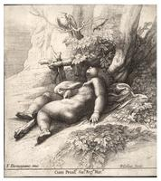 Infant Hercules asleep, after Parmegiano