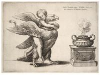 Cupid and an eagle, after Giulio Romano