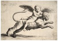 Cupid on a tiger, after Giulio Romano