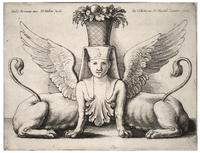 Sphinx with two bodies, after Giulio Romano