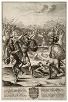 Aeneas' fight with Mezentius and Lausus