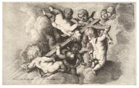 Seven cherubs carrying the cross