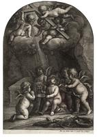 Five cherubs at the tomb