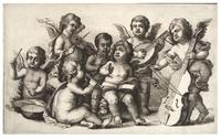 Concert of cherubs on earth