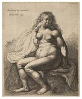 Naked woman, after Rembrandt