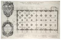 Plan of the crypt of St Paul's (St. Faith)