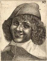 Head of laughing man, after Bijlert