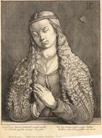 Woman with unloosened hair, after Dürer