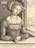 Woman with coiled hair, after Dürer