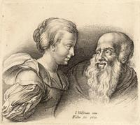 Old man and a girl, after Hülsman