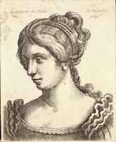 Woman with with many plaits