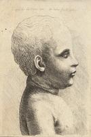 Profile of naked child