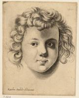 Head of a child, after Sadeler