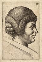 Woman with a fur cap