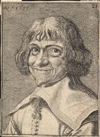 Head of a laughing man