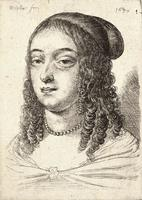 Young woman with long curls