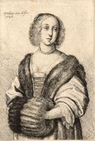 Woman with muff and fur