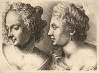 Heads of two young women