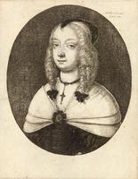 Woman with pointed black head-dress