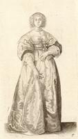 Lady with ribbon round her waist