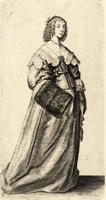 Lady with fur muff on right hand