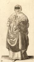 Lady with mask and muff