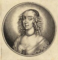 Woman with two curls on her forehead