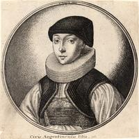 Woman with dark cap and pleated ruff