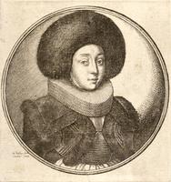 Woman with a round fur cap
