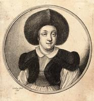 Woman with a large fur cap