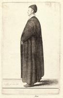 Monk, profile to left