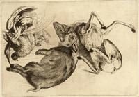 A boar, heron, and other game
