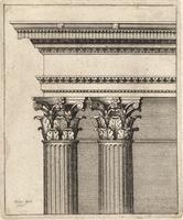 Columns and entablature