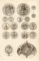 Seals and medals showing collars of Orders